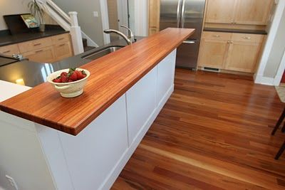 Kitchen Bar Top Diy Wood Countertops Countertop Design Diy