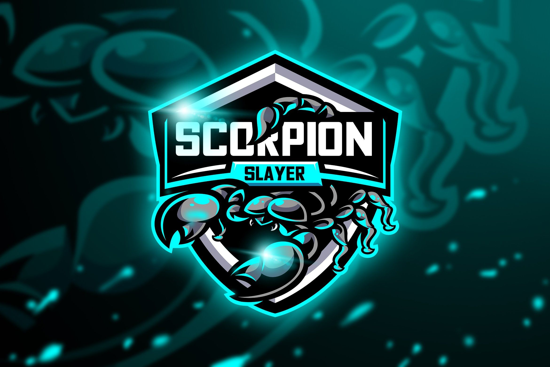 Scorpion SlayerMascot & Esport Logo by AQR Studio on
