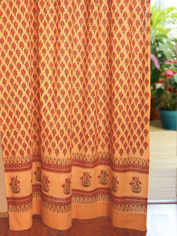 Wonderful Shower Curtain Saffron Marigold 7000