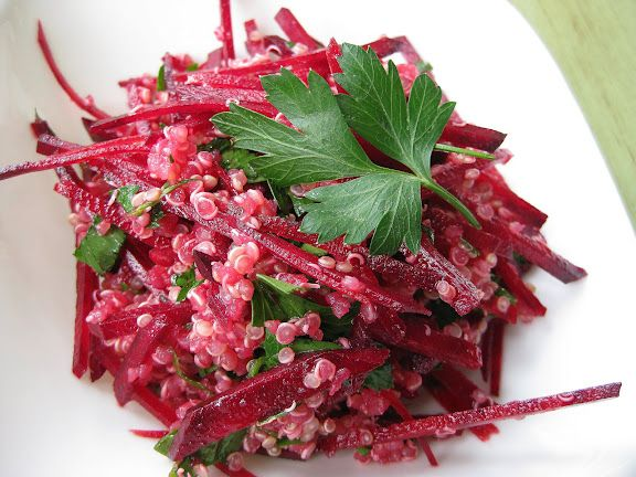 Fresh Beet and Quinoa Salad | Thai Food by SheSimmers