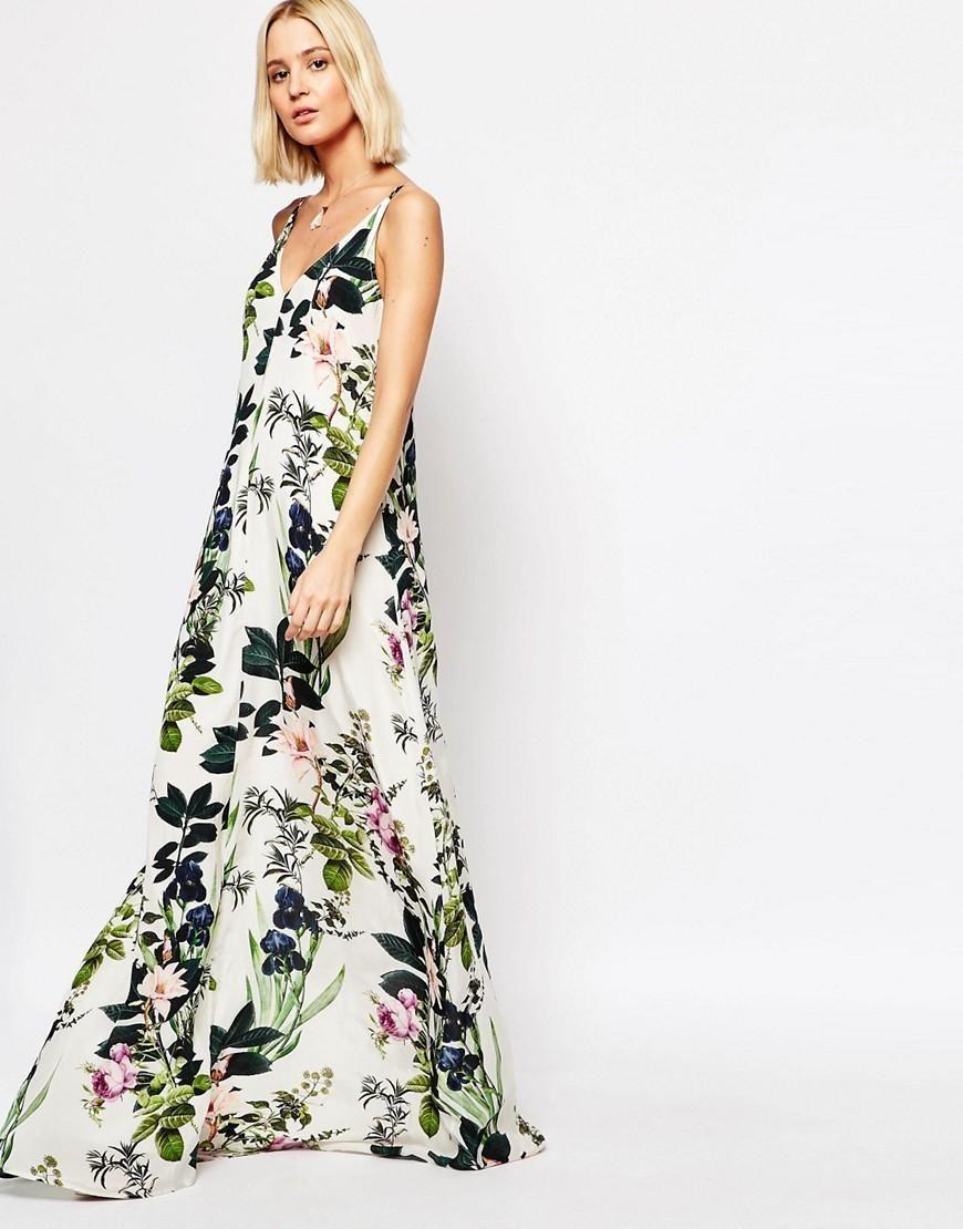Gestuz Maxi Dress In Floral Print At Asos Com Dresses Maxi Dress Tall Maxi Dress [ 1110 x 870 Pixel ]