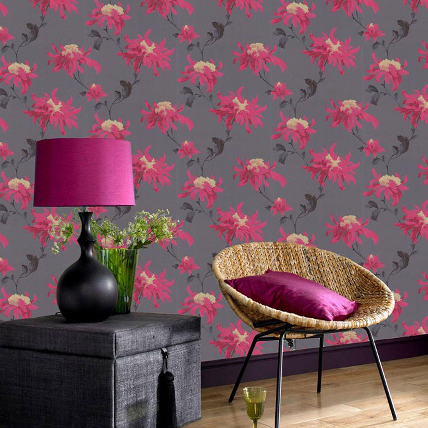 Graham Brown Julien MacDonald Fabulous Pink Wallpaper