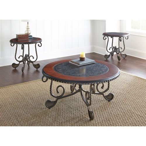 Hazel 3 piece occasional table set living room redo - 3 piece table set for living room ...