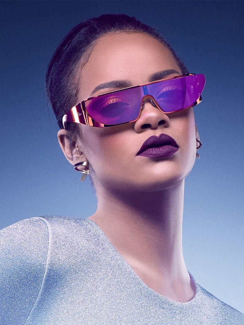 e9283e68f357 Rihanna Designs (and Models) Futuristic Sunglasses for Dior ...