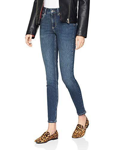 Liu Jo Damen Skinny Jeans Bottom Up Divine Blau (Den.Blue