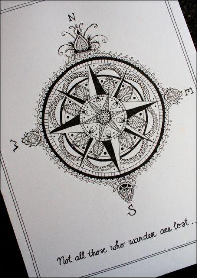 Kompass, Tattoo Zeichnungen and