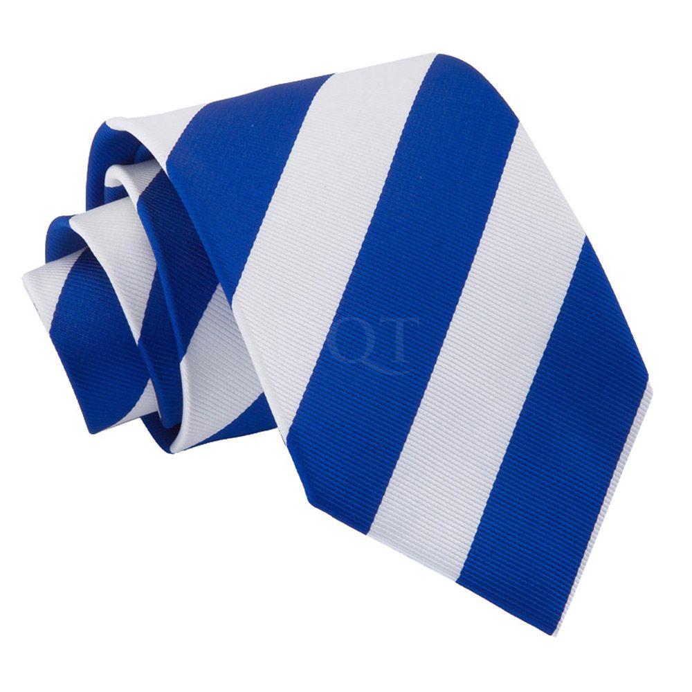 DQT Satin Plain Solid Electric Blue Waiter Security Funeral Clip On Tie