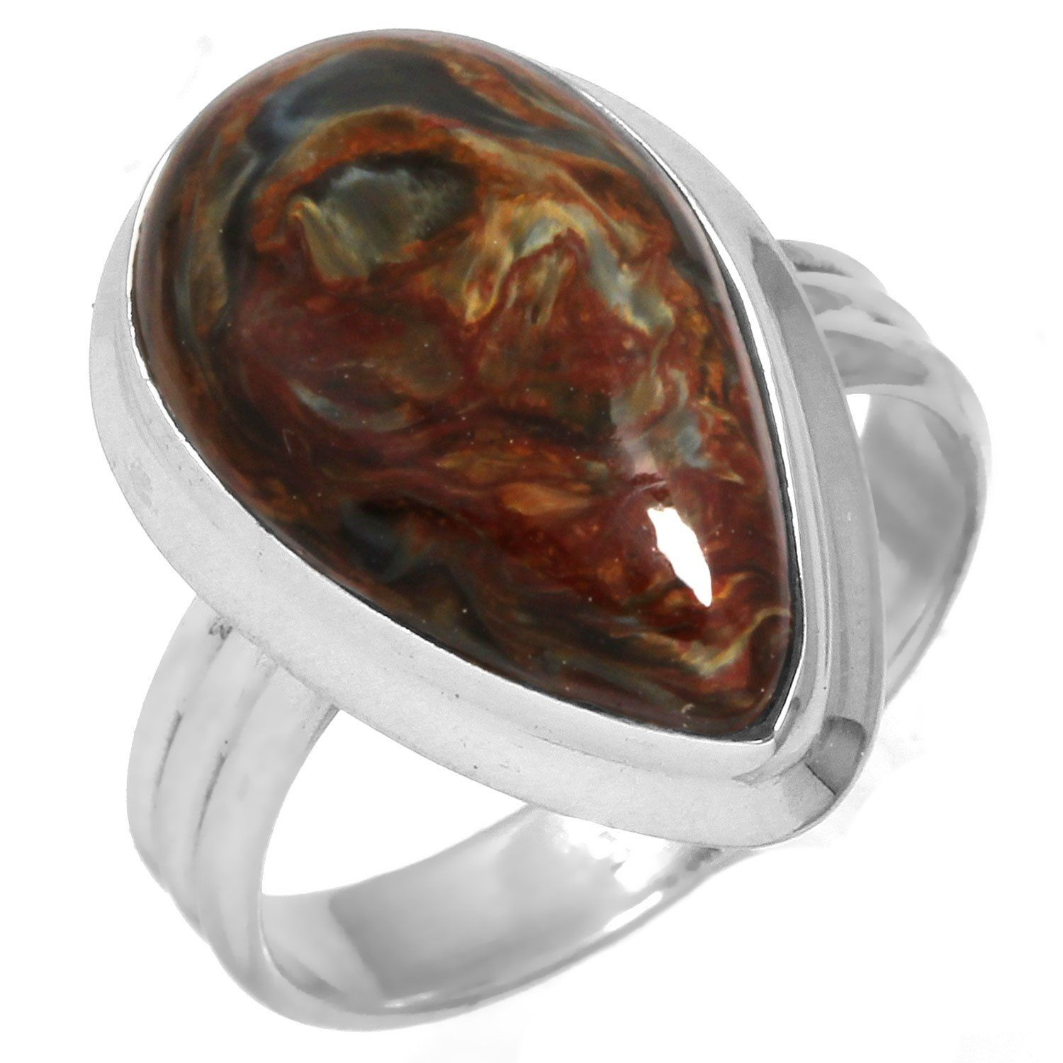 size sterling ring pietersite natural silver rings itm