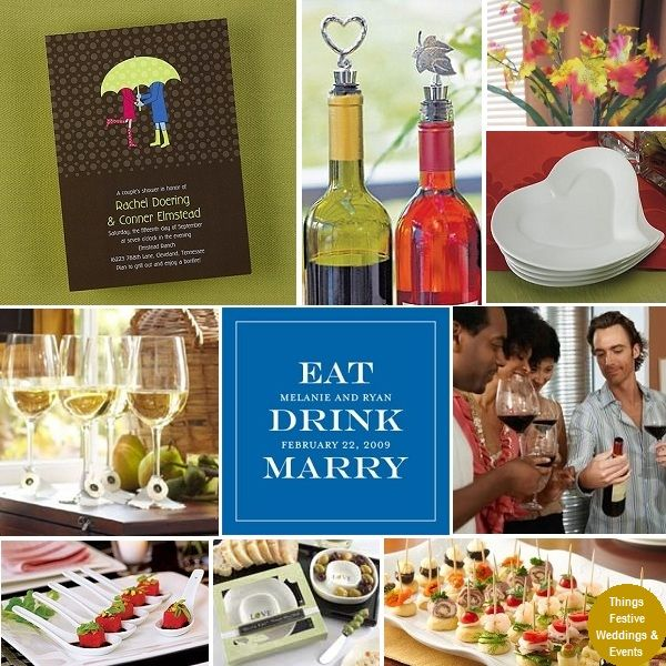 Couples Wedding Shower With Wine Tasting Theme