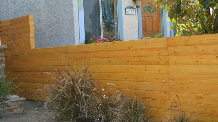 Build a horizontal fence and fence gate Build a horizontal fence and fence gate