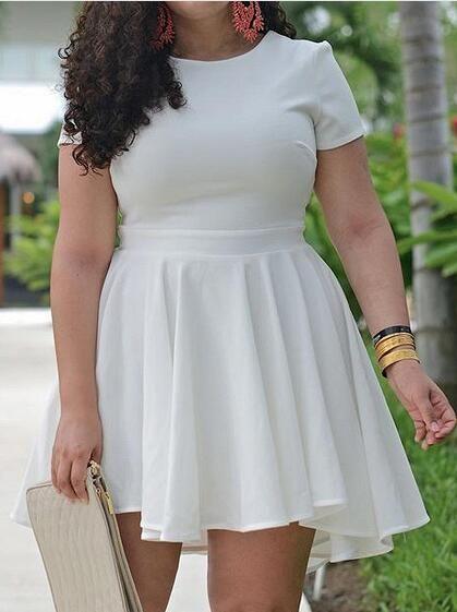 product image   Clothes   White plus size dresses, Plus size ...