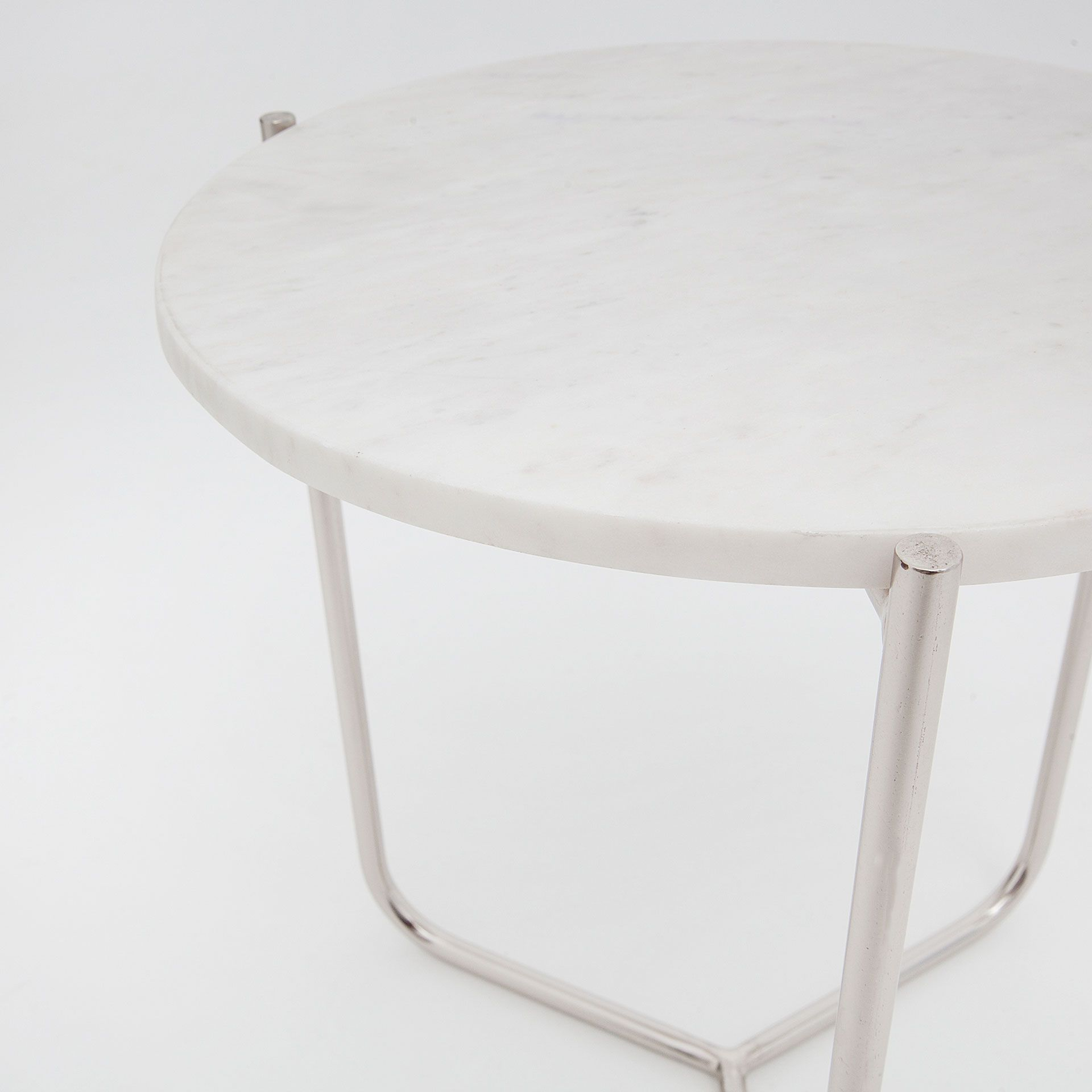Couchtisch Liam Round White Marble Side Table Living Room Table White Marble