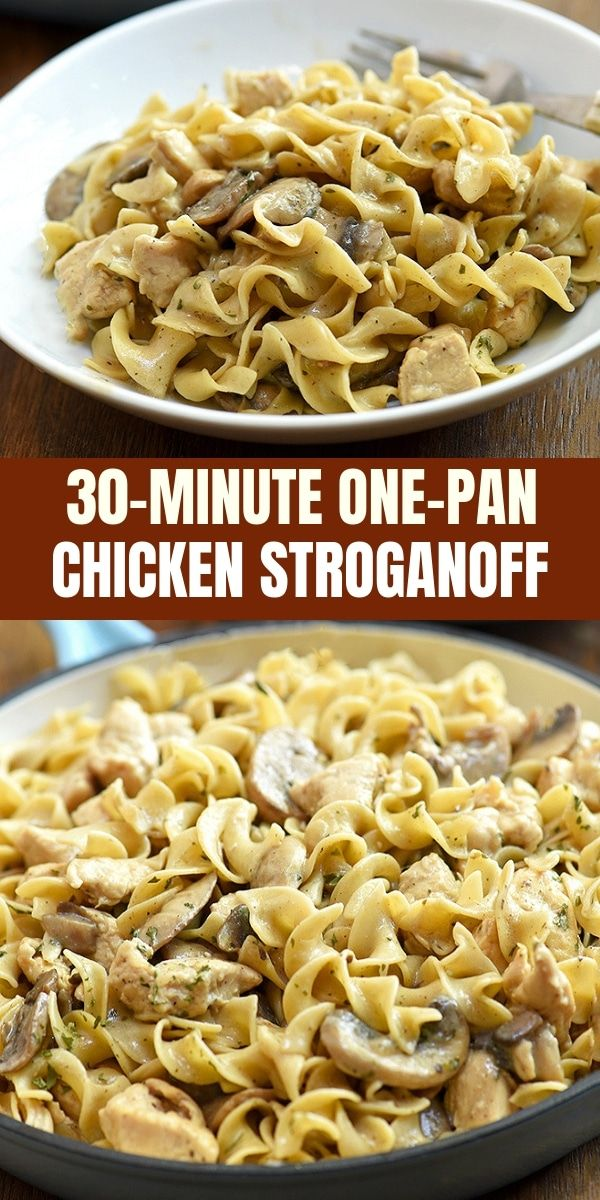 One-Pan Chicken Stroganoff - Onion Rings & Things