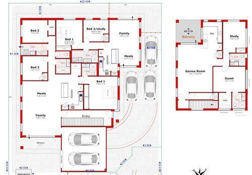 201 Dual Occpancy Duplex Double Storey House Plan