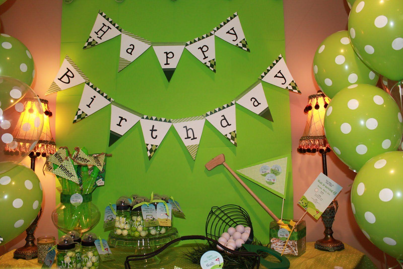 golf galore Golf party, Golf birthday party, Golf theme