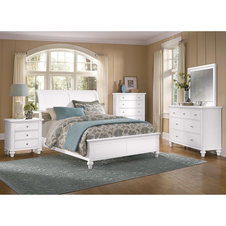Savannah White Bedroom King Bed Value City Furniture
