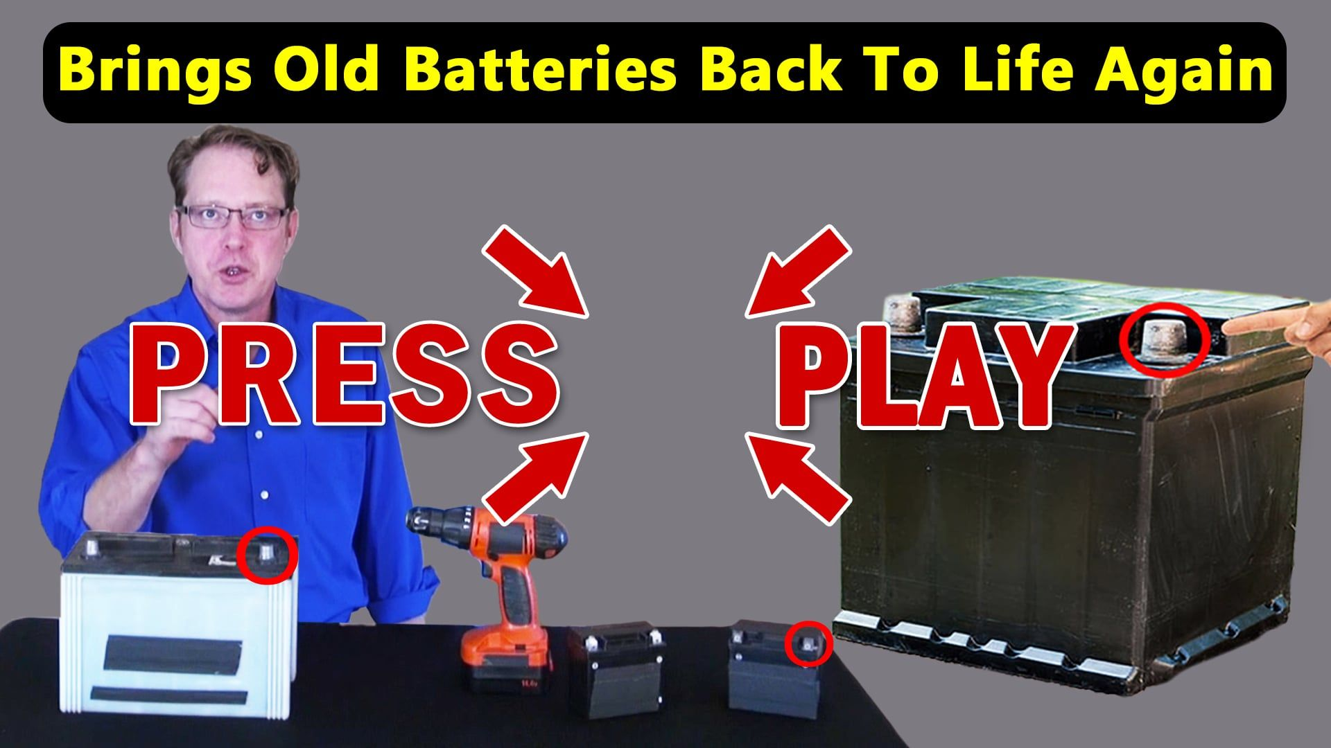 Ez Battery Reconditioning Recondition Your Old Batteries Back To 100 Of Their Working Condition Batteries Car Battery Hacks Dead Car Battery