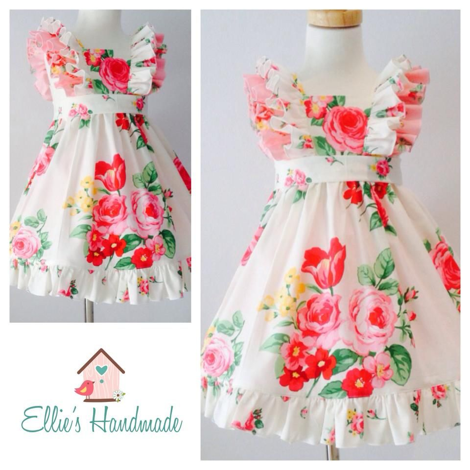 Vestido flores   Niñas hermosas   Pinterest   Vestidos para niñas ...