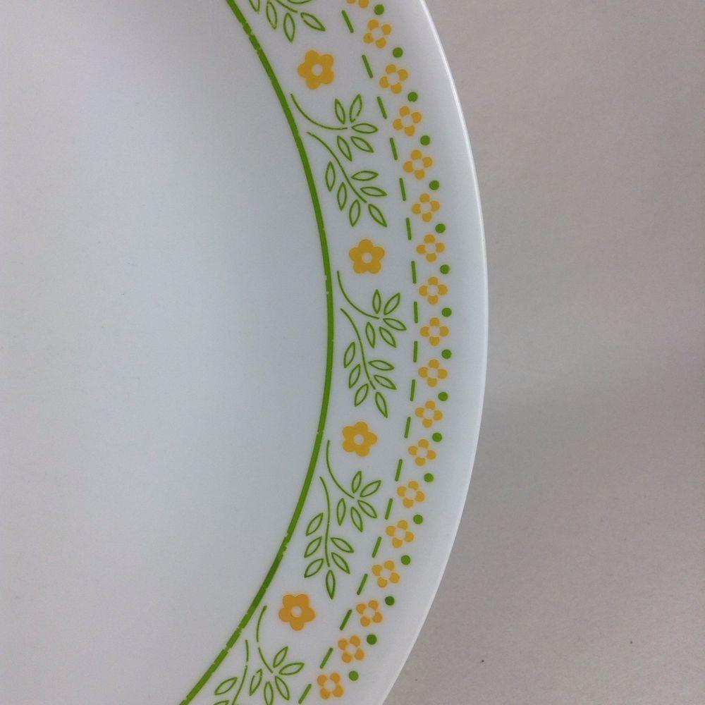 7 Corning Corelle SUNSHINE 10 1/4  Dinner Plates SEVEN Green Yellow #Corning & ? 7 Corning Corelle SUNSHINE 10 1/4