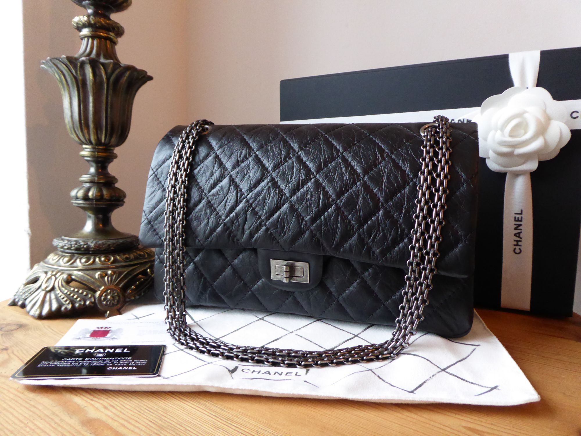 c45834666e1d Chanel 226 Reissue Mademoiselle 2.55 Flap in Distressed Black ...