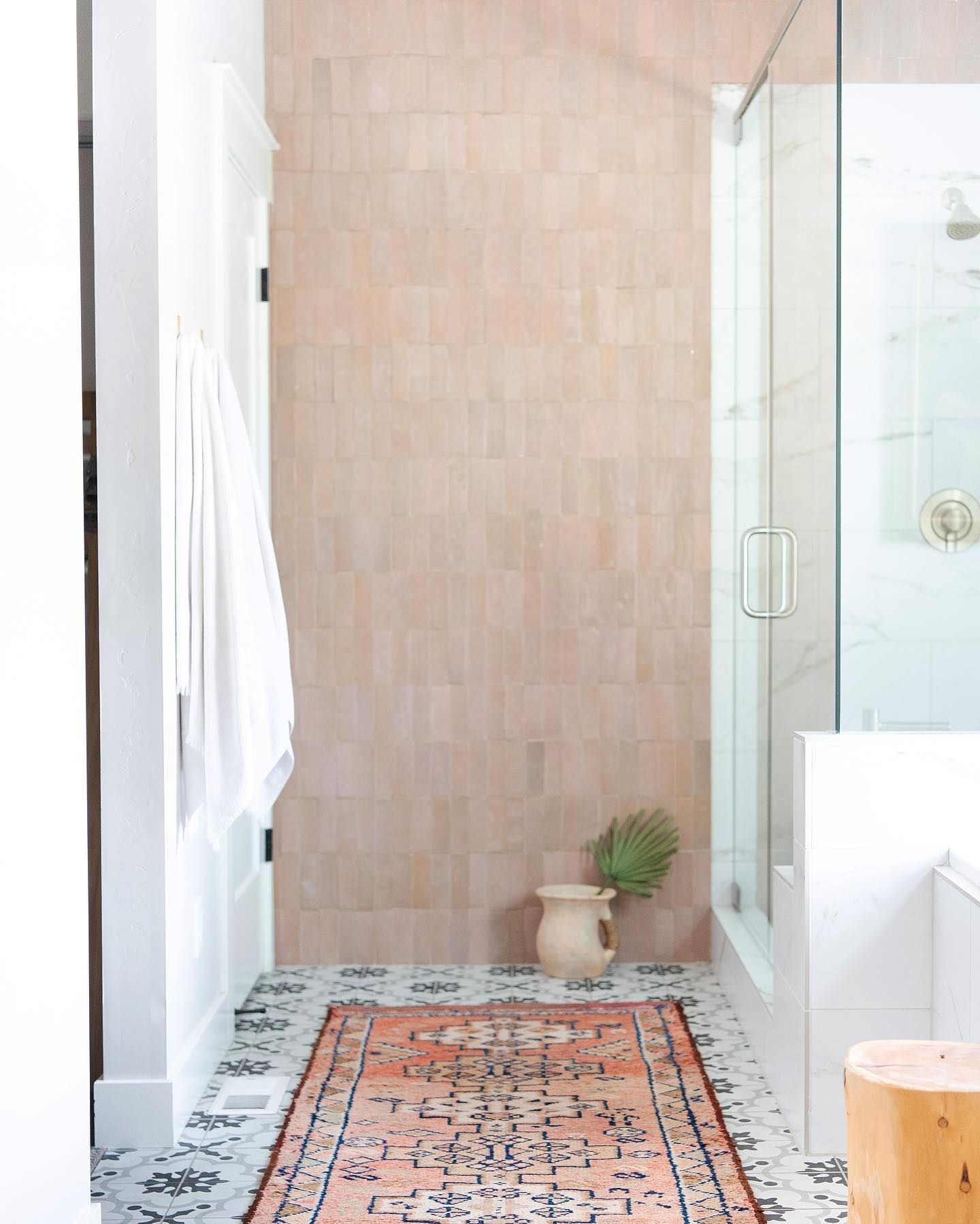 Stunning bathroom by loomandkiln featuring our 2x6 Blush