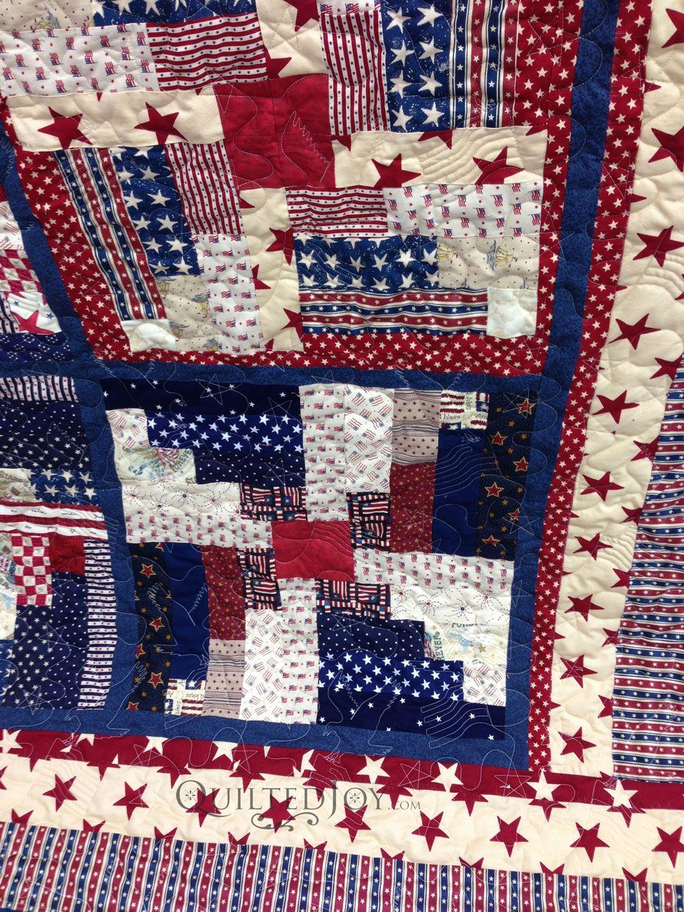 Quilts Of Valor Log Cabin Quilt Quilt Of Valor