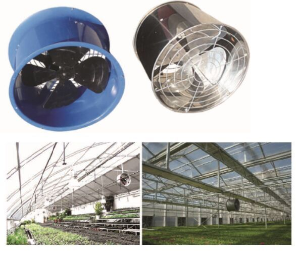 Greenhouse Cooling System Cooling Pad Ventilation Fan Tunnel