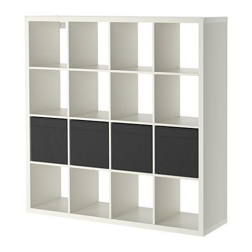 KALLAX Shelf Unit With 4 Inserts, White. Ikea Storage ...