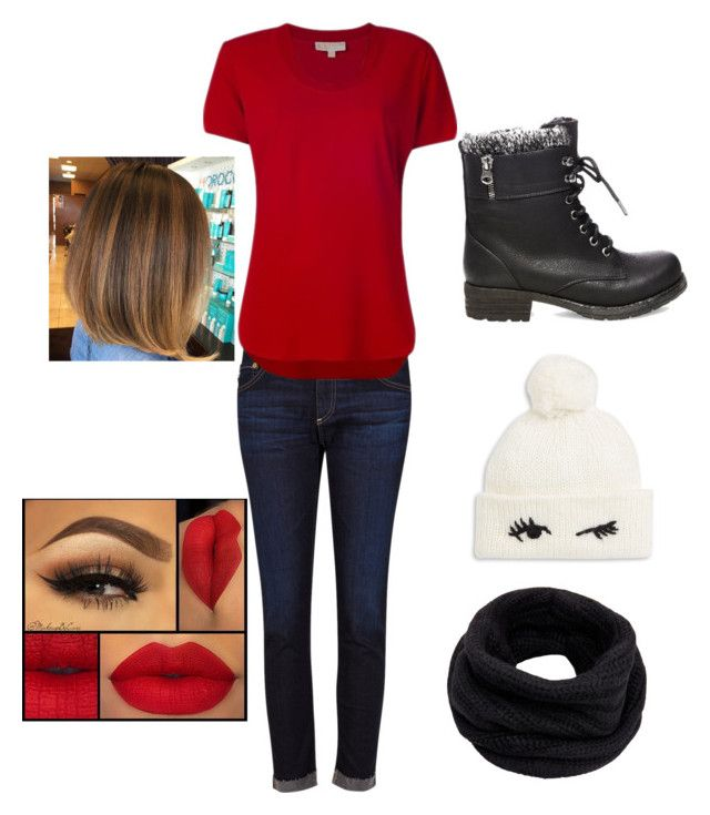 """""""Valen times day hang out ❤️"""" by nariviahoyos on Polyvore featuring AG Adriano Goldschmied, MICHAEL Michael Kors, Steve Madden, Kate Spade and Helmut Lang"""