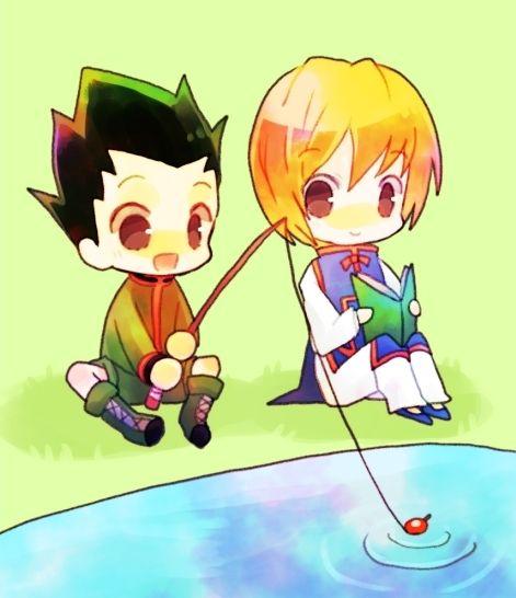 gon and kurapika chibi hunter x hunter pinterest chibi anime