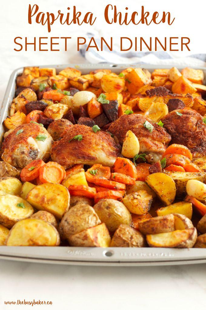 Paprika Chicken Sheet Pan Dinner #healthyweeknightmeals