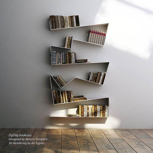 Zig Zag Bookcase Designed By Beatriz Sempere