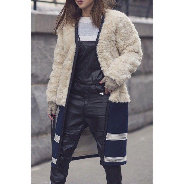 """Seen in Paris •  #PFW #fw15 #streetfashion #streetstyle #womenswear #fashionweek #bleumode"""