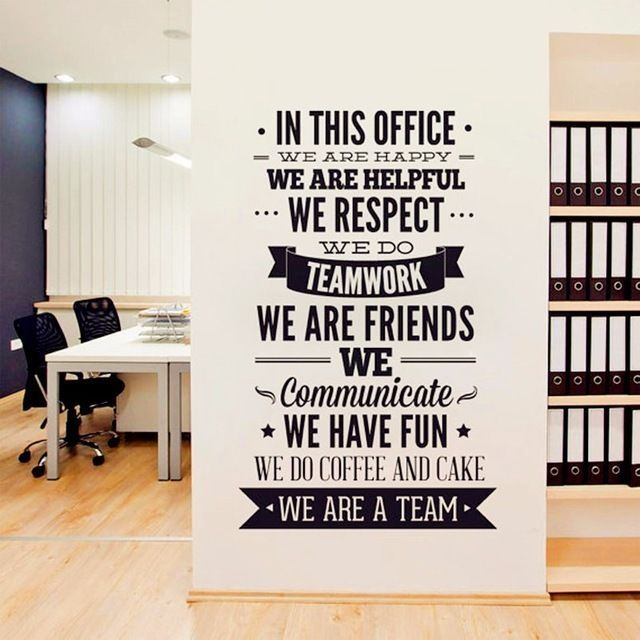 Office Rules We Are A Team Removable Wall Decal Vinyl Quote Stickers Decor Art Ebay Office Wall Decor Office Wall Art Office Design
