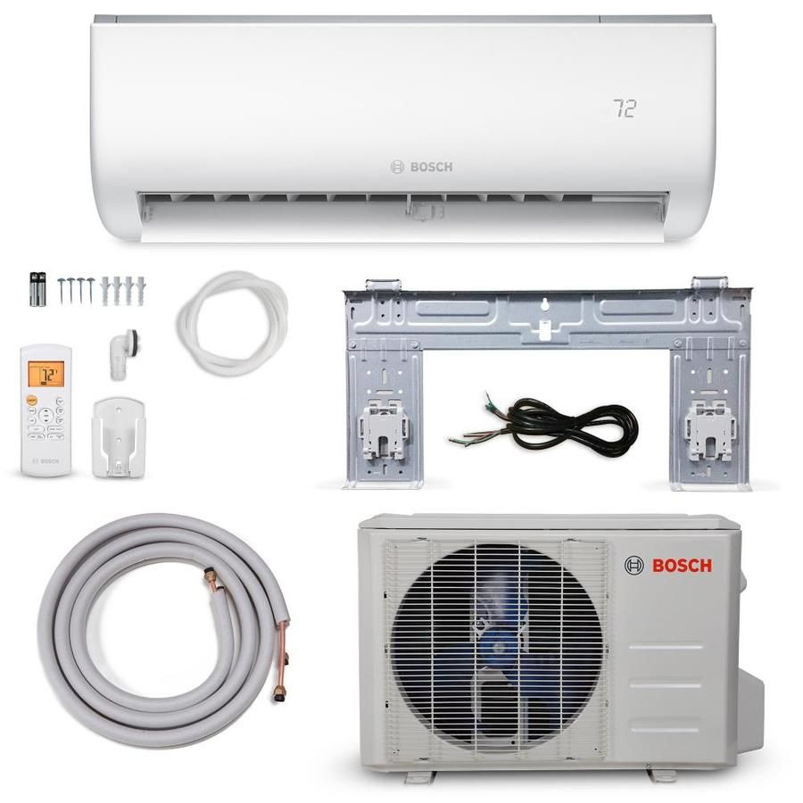 Bosch 12000 Btu 600 Sq Ft Single Ductless Mini Split Air Conditioner With Heater Energy Star 8733953254 In 2020 Ductless Mini Split Ductless Heat Pump
