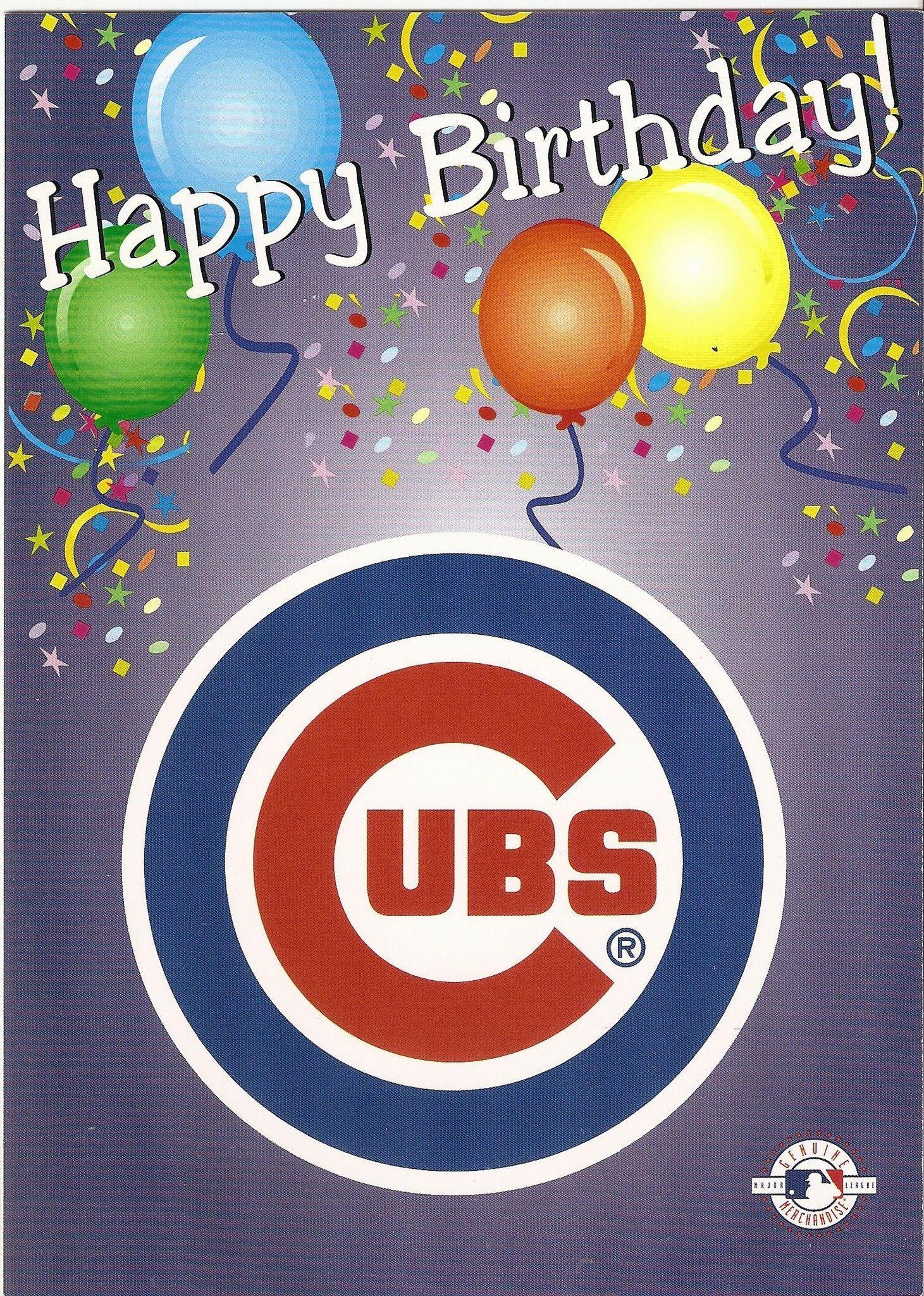 Chicago Cubs Happy Birthday Greeting Card Birthday
