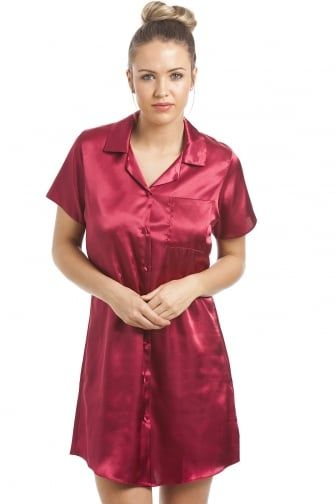 c7e8ea5ebb Luxurious Knee Length Red Satin Nightshirt