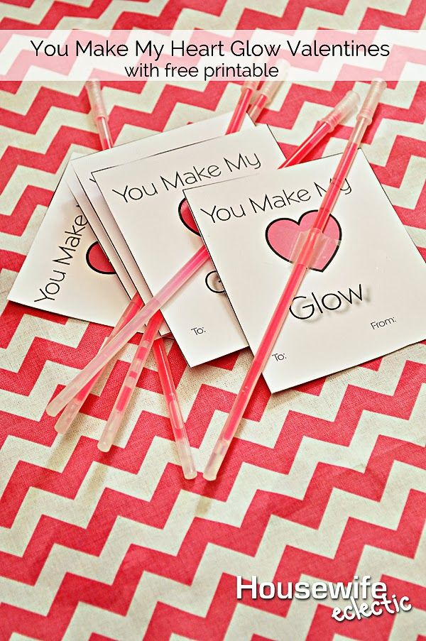 photo about You Make My Heart Glow Printable named Your self Generate My Center Shine Valentines with No cost Printable