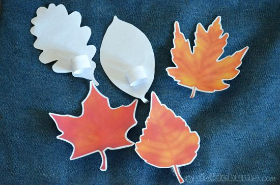 Printable Autumn Leaf Puppets And A Song