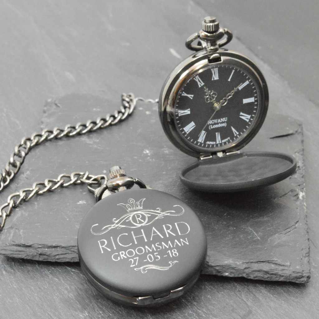 Personalised Pocket Watch For The Groom Personalized