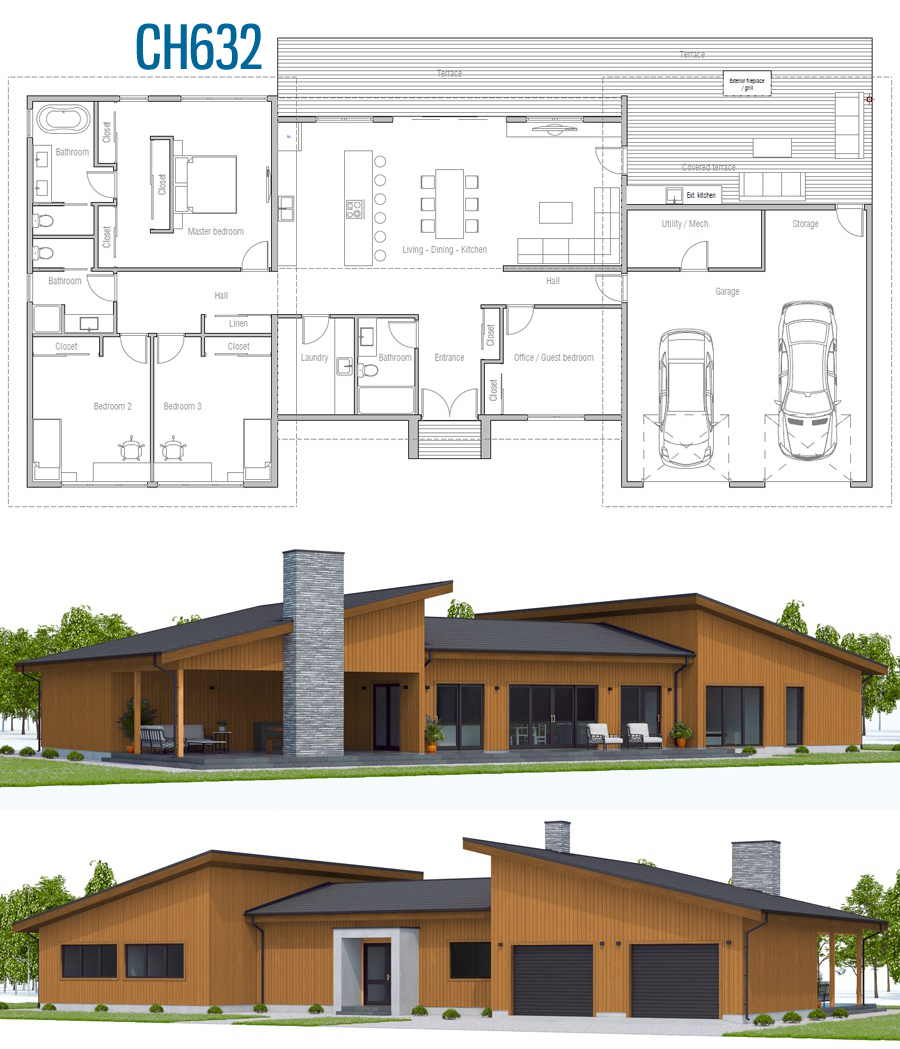 Floor Plan Ch632 Accessible House Plans House Construction Plan Sims House Plans