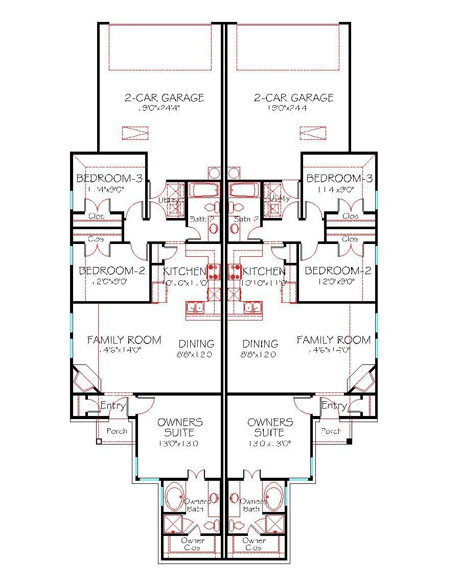 1228 Duplex 130 Flr Plan Beach House Floor Plans Duplex Floor Plans House Floor Plans