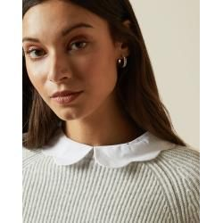 Photo of Rib Collar Sweater With Wavy Edge Ted BakerTed Baker