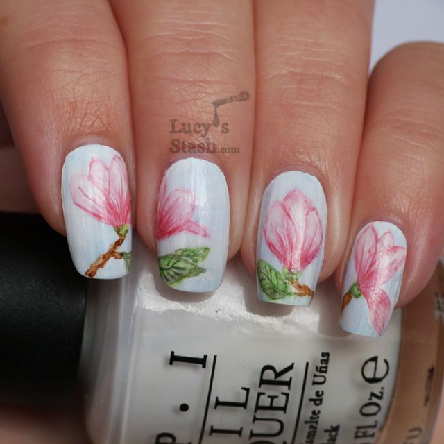 Watercolour Aquarelle Magnolia Flowers New Technique To Lucy S