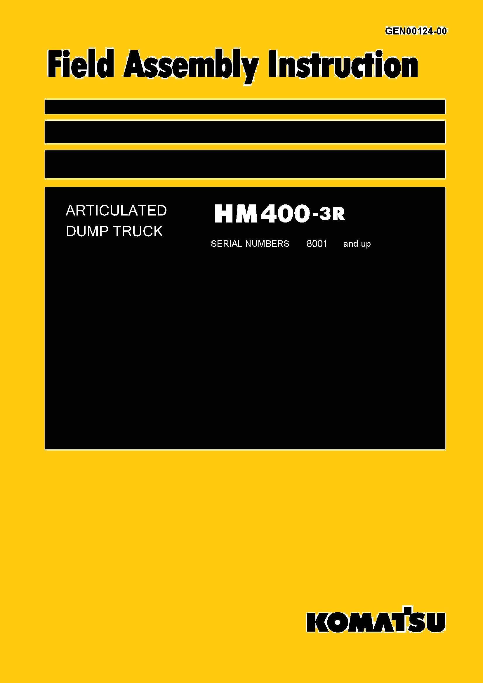 Komatsu ARTICULATED DUMP TRUCK HM4003R Field Assembly
