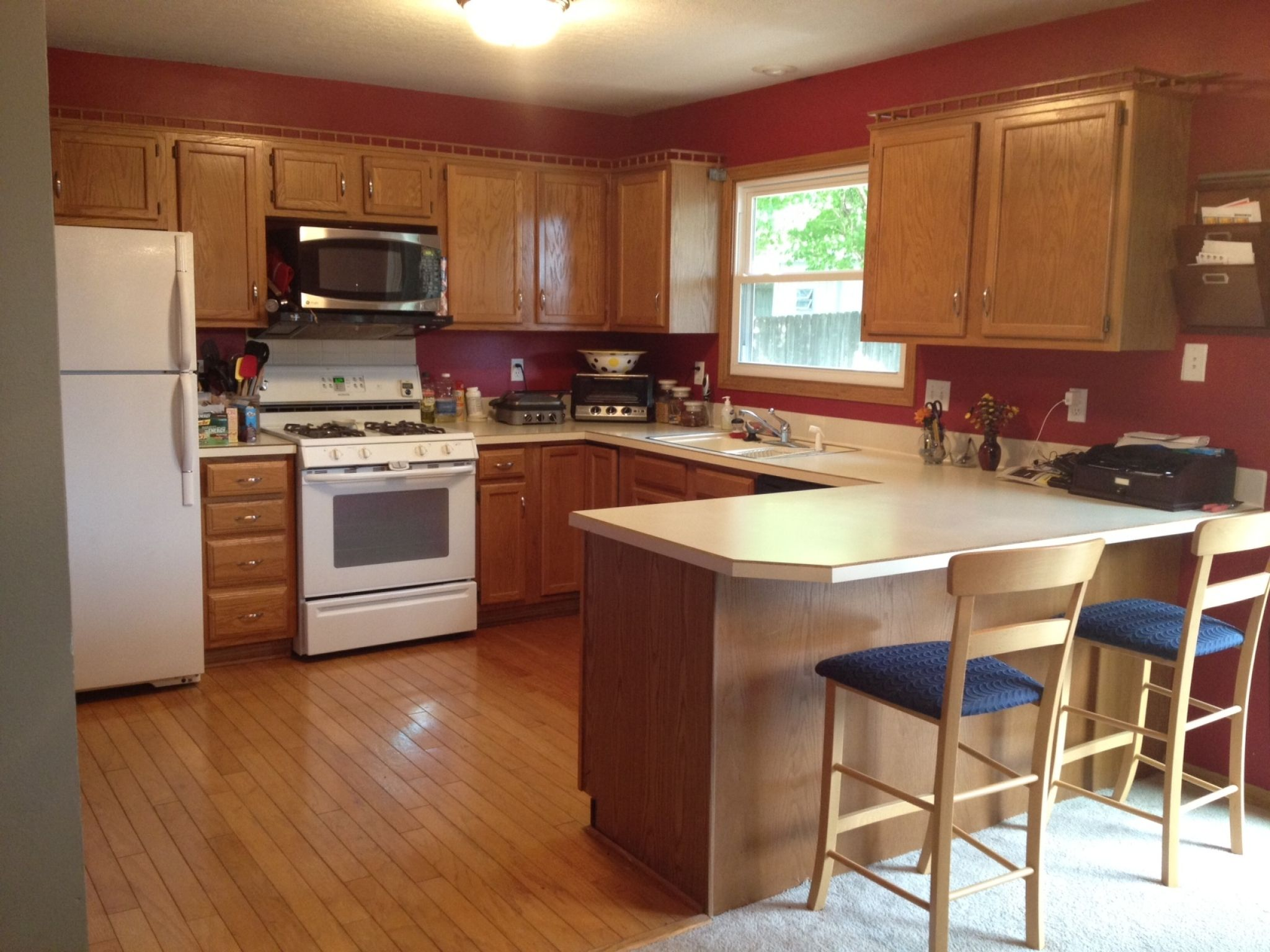 Kitchen Wall Colors With Honey Oak Cabinets  Ideas For Kitchen Captivating Kitchen Designs With Oak Cabinets Design Ideas
