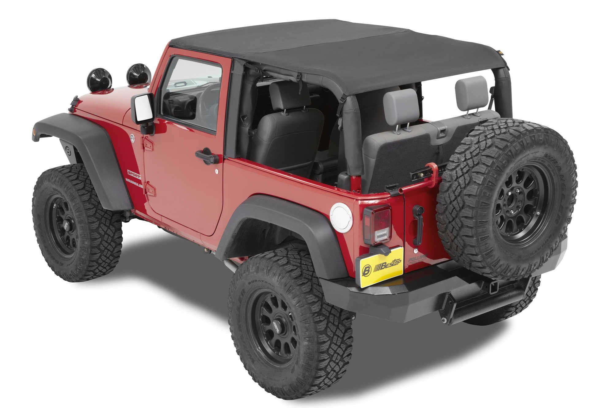Bestop Cable Style Safari Bikini Top For 10 16 Jeep Wrangler JK 2 Door