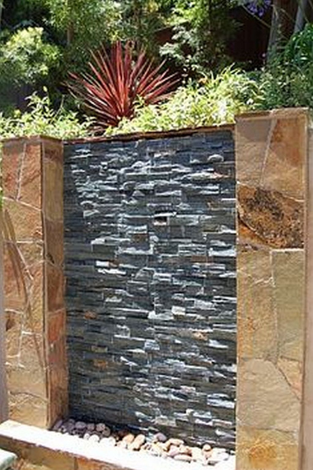 30 Diy Outdoor Water Wall Water Feature Wall Water Walls Diy