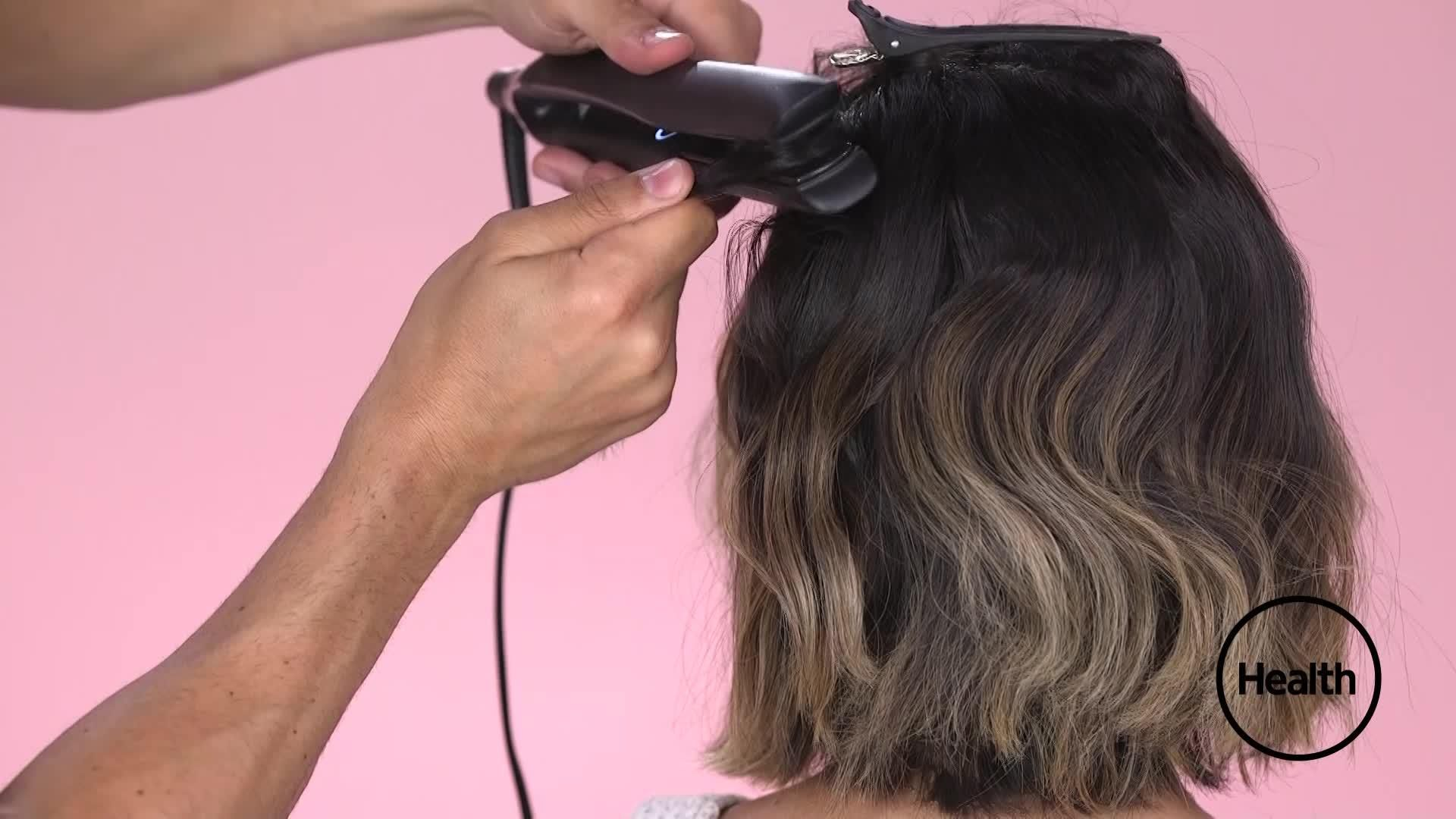 This Flat Iron Trick to Get Luscious Beach Waves