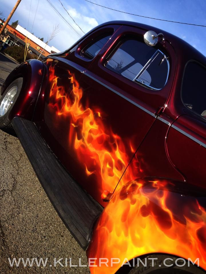 Willys Painted With True Fire By Mike Lavallee Of Killer Paint - Custom vinyl decals for rc carsimages of cars painted with flames true fire flames on rc car